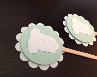 onesie baby shower - onesie baby - onesie cupcake toppers - onesie decorations - onesie favors - onesie party -baby shower