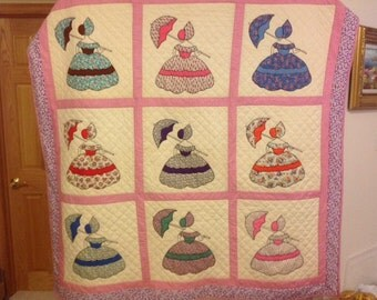 Vintage Colonial Lady Quilt Pattern