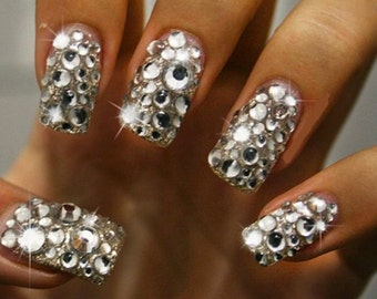 Crystal Rhinestone Effect Nail Art Crystals - for real or acrylic nails.  Go on, treat yourself or your girlfriends