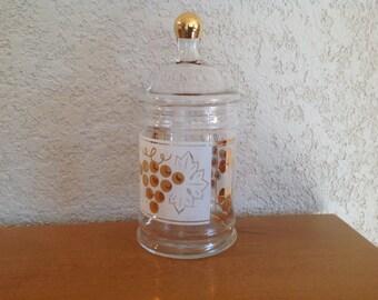 Golden Grape Candy Jar.