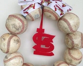 Saint Louis Cardinals Baseball Wreath