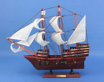 """Mayflower Replica 14"""" Tall Model Ship / Age of Sail Historic Tall Model Boats / Age of Exploration Model Tall Ships"""
