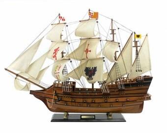 "34"" Spanish Treasure Galleon Model Boat / Spanish Navy Age of Sail / Spanish Treasure / Historical Model Boat"