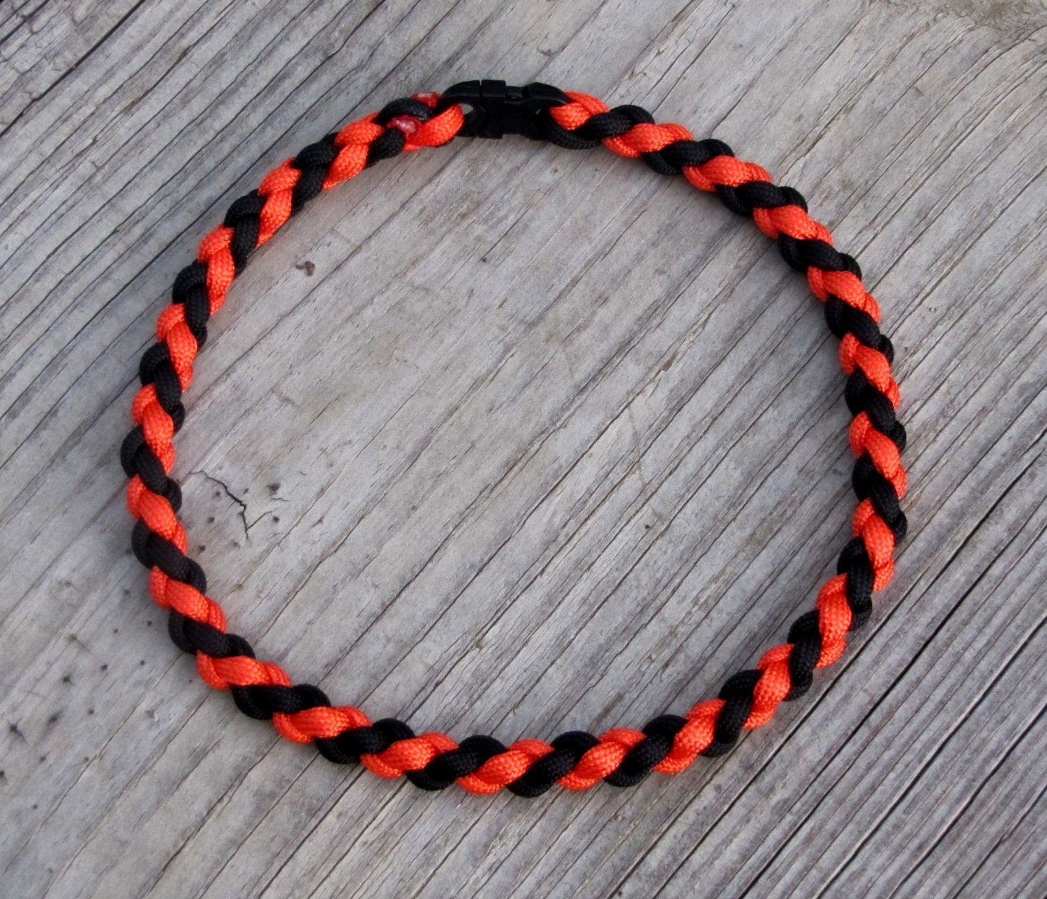 paracord sports necklace or bracelet orange by