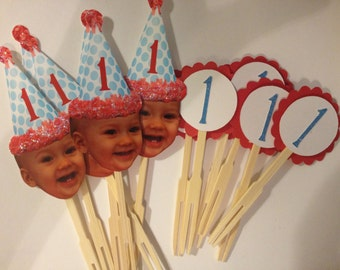 Photo cupcake toppers package