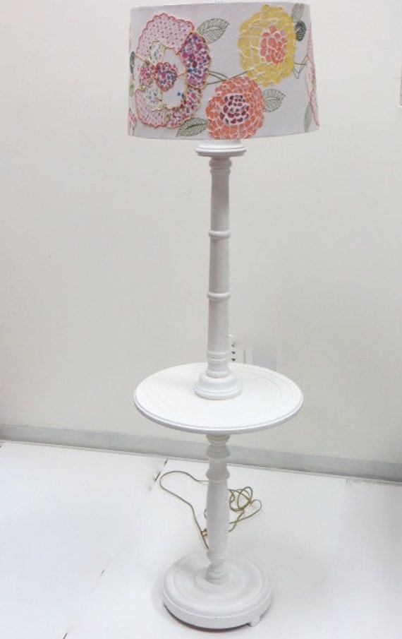 shabby chic table lamp by theyellowcanopy on etsy. Black Bedroom Furniture Sets. Home Design Ideas