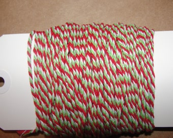 Christmas Baker's twine, red and greeen baker's twine,red, green ,craft string, 20 yards