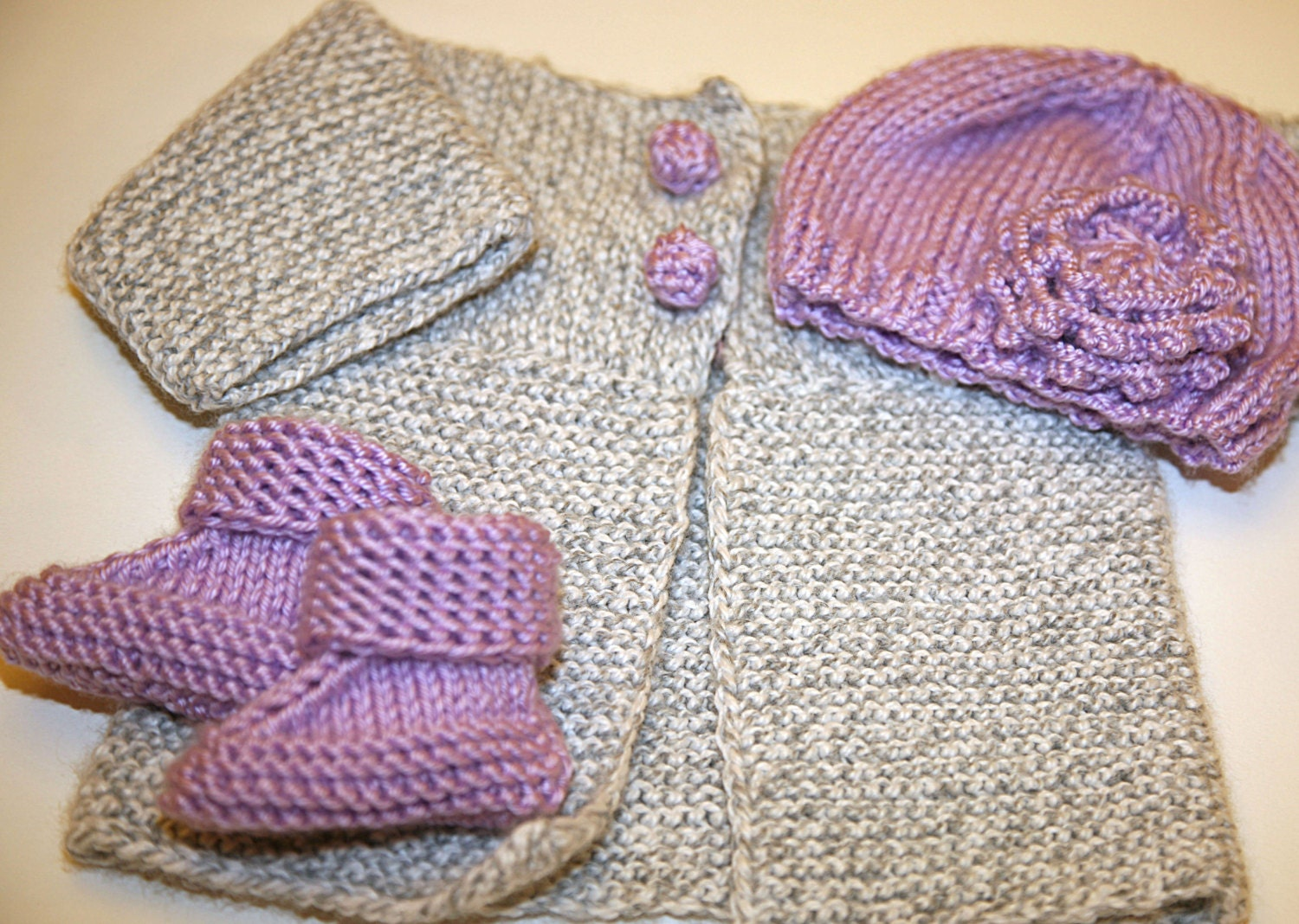 Knitting Pattern Cardigan For 18 Months : PATTERN knitting - baby boy or girl sweater / cardigan with soft crochet butt...