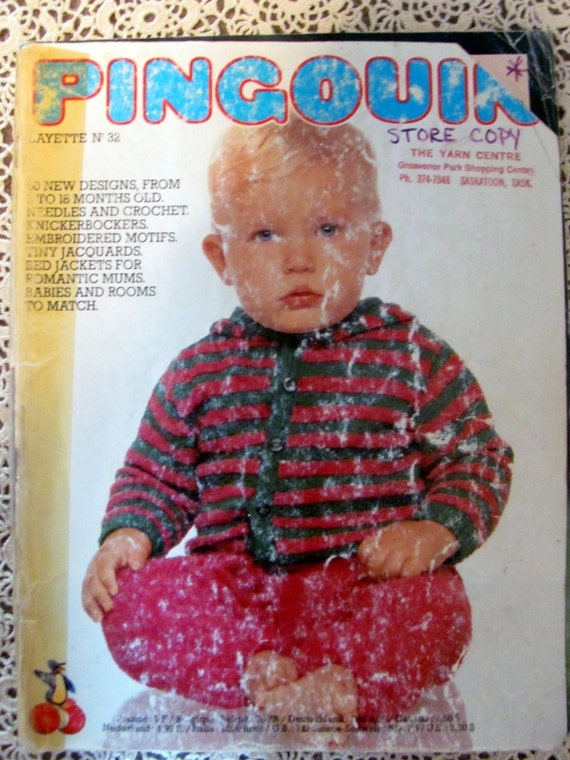 Pingouin Layette Number 32Knitting Patterns for Children