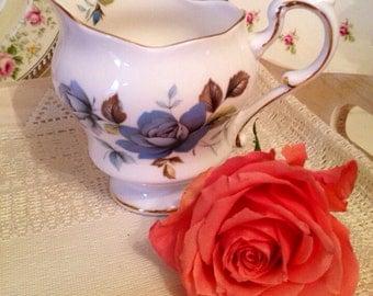Paragon Creamer milk jug in Blue Mist pattern. Vintage