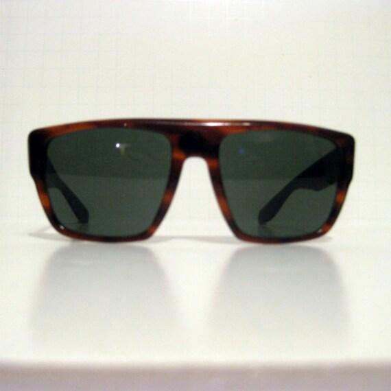 Ray Ban Rare DRIFTER Wayfarer Sunglasses 1970s 1980s Oversize Tortoise Frame Dark Lenses Men Women Bausch Lomb Made in USA