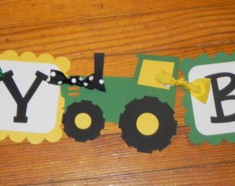 Tractor Birthday Banner - John Deere Birthday Banner