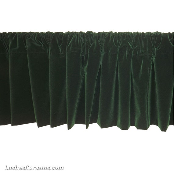Forest Green Window Valance w/Rod Pocket Top Custom & Ready Made ...