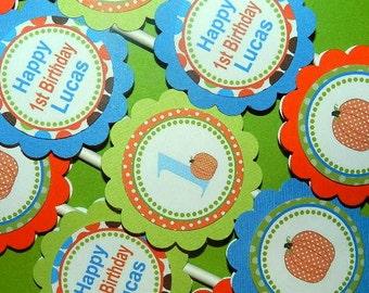 Fall Birthday Party-  Fall birthday -Fall Birthday Decorations Fall Birthday Cupcake Toppers-Pumpkin Birthday