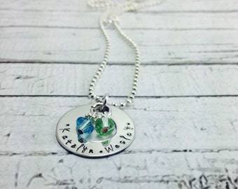 Christmas Deal! Until November 30th.  Personalized hand stamped mothers stainless steel necklace