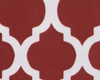 HALF YARD Red Quatrefoil Fabric Finders Cotton Fabric