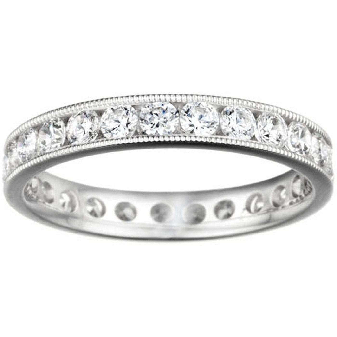 10k gold with gh i2 i3 diamonds eternity band channel set