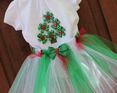 Baby Girl Christmas Outfit Dress Christmas Dress Baby Christmas Tutu Outfit and Headband Bow Christmas Tree Dress Newborn Christmas Outfit - SweetCrusaderStyle