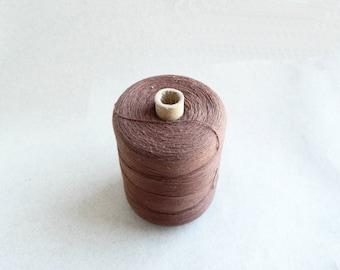 Soviet Vintage Thread Spools - Brown