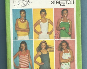 1979 Simplicity 9035 Variety of Tank and Halter Tops Size 10 12 14