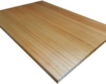 "Hard ""Rock"" Maple Butcher Block Countertop - Edge Grain - Kitchen Island Top - Custom Sizes Available"
