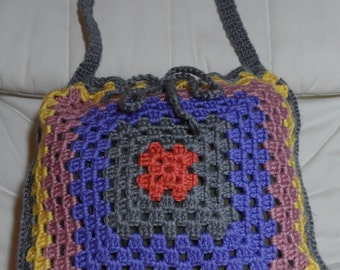 Versatile Granny Drawstring Square Tote