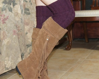 Over The  Knee Socks Chunky Knitting Thick Boot Socks