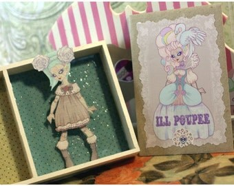 Paper doll for BJD, Miniature Paper doll