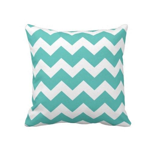 Turquoise Chevron Pillows Pillow Cushions Throw Pillows