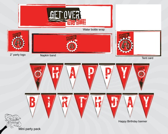 Items similar to mountain bike enthusiast 39 s 40th birthday for 40th birthday decoration packs