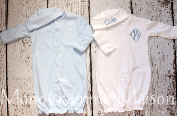 Twins Coming Home Outfit Newborn Gown Twins Gift Baby