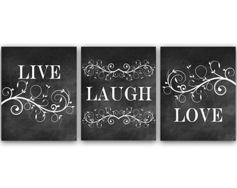 Charmant Bedroom Art, Live Laugh Love, Bedroom Wall Art, Printable Chalkboard Art,  Bathroom