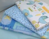 Set of 4 Swaddle/Receiving Blankets for Baby Boy (Swaddling Blanket)