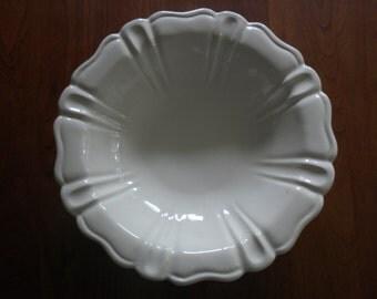 Detailed Ironstone Bowl White