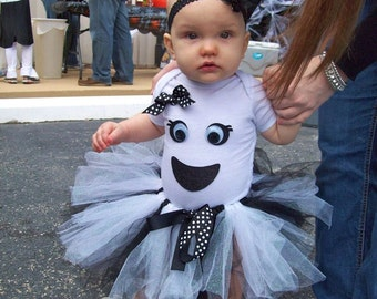 Baby Girl's Ghost Tutu Costume