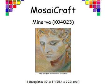 MosaiCraft Pixel Craft Mosaic Art Kit 'Minerva' (Like Mini Mosaic and Paint by Numbers)