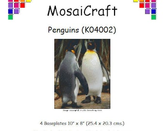 MosaiCraft Pixel Craft Mosaic Art Kit 'Penguins' (Like Mini Mosaic and Paint by Numbers)