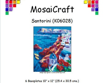 MosaiCraft Pixel Craft Mosaic Art Kit 'Santorini' (Like Mini Mosaic and Paint by Numbers)
