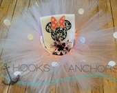 Mouse Ear Bow Vacation Girls Shirt Onesie Tutu Bow