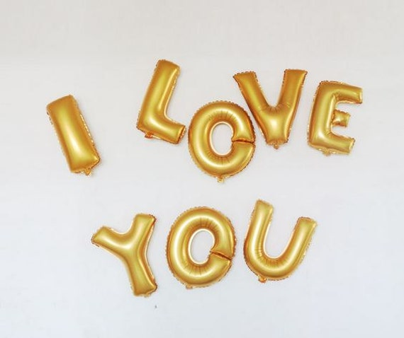 Small size 16 inches foil balloons capital alphabet letter for I love you letter balloons