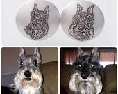 Custom Cufflinks impressed with your Pet's Image
