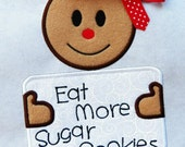 EAT MORE SUGARCOOKIES machine embroidery design