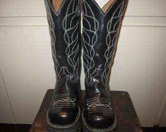 John Fluevog Chunky Heels Cowboy Boots Size 5 US