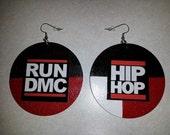 Back to Back: Run DMC/Hip Hop Earrings (2.5 inches)