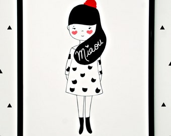 Print- Cat Lady-