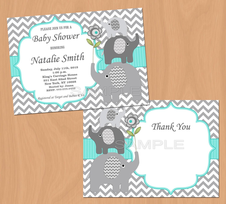 Invitaciones Baby Shower Elefante ~ Baby shower invitation elephant boy