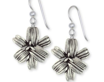Sterling Silver Handmade Lily Flower Earrings Jewelry LLY-E