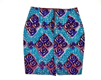 African Skirt, African Wax Print Skirt, Ankara Print Skirt, Ankara Pencil Skirt, Handmade pencil Skirt, Ankara Fabric Skirt By ZabbaDesigns