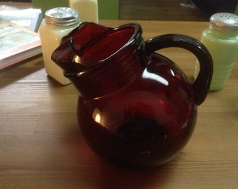 Royal Ruby Tilted Pitcher