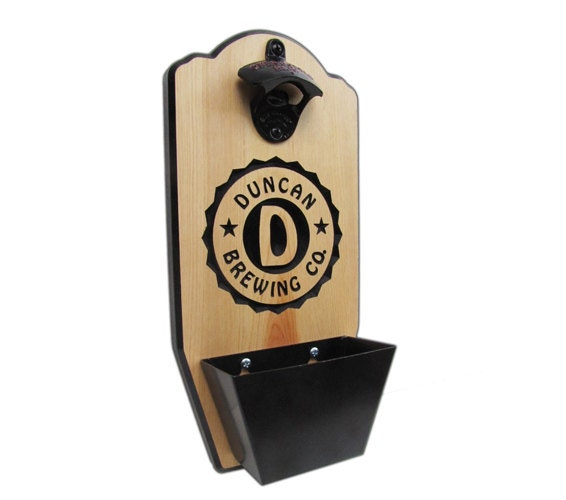 Personalized Wall Mount Bottle Opener Brewing Company Edition
